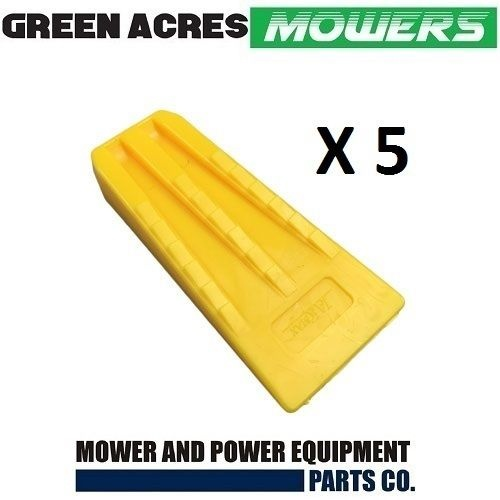 5 PAC OF 5 1/2 INCH CHAINSAW TREE FELLING AND SPLITTING WEDGES