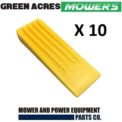 10 PAC OF 8 INCH CHAINSAW TREE FELLING AND SPLITTING WEDGES