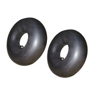 2 X RIDE ON MOWER TUBE 18 X 8.50 X 8 BENT STEM VALVE