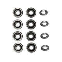 "8 x 1/2"" SEALED WHEEL BEARINGS & 4 RETAINING CLIPS FOR HONDA ROVER MASPORT"