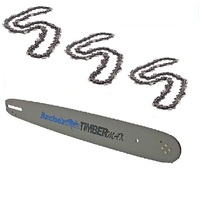ARCHER CHAINSAW BAR AND 3 CHAINS COMBO SELECTED 18 INCH STIHL CHAINSAWS 66DL 3/8 063