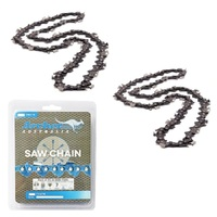 2 X ARCHER CHAINSAW LOOP SEMI CHISEL 52 DL 3/8 LP 043