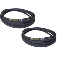 "2 X RIDE ON MOWER BLADE BELT FITS SELECTED HUSQVARNA 42"" CUT TWIN BLADE MACHINE"