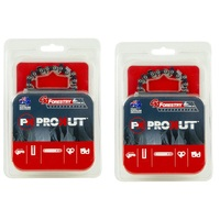 "2 x PROKUT CHAINSAW CHAINS FITS 14"" BAR  52 3/8 LP .043 Makita UC3520A EGO CS1400E"
