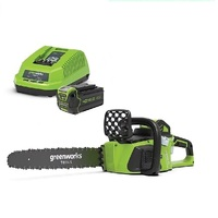 "GREENWORKS 40V BRUSHLESS CHAINSAW 40cm 16"" CORDLESS KIT 4.0Ah BATTERY"
