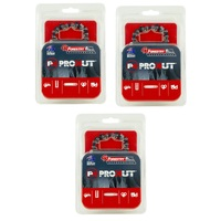 3 x PROKUT CHAINSAW CHAINS SEMI 50 3/8LP 043 STIHL MS170 MS171 MS180 MS181 HT70 HT75
