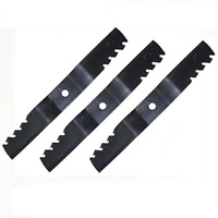 "54"" TOOTHED BLADE SET FOR JOHN DEERE  MOWERS PREDATOR ,GATOR STYLE BLADES"
