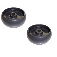 2 x RIDE ON MOWER DECK WHEEL FITS SELECTED JOHN DEERE MOWERS OEM GX10168