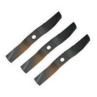 RIDE ON MOWER BLADE SET FOR 54 INCH KUBOTA MOWERS    76529-34330 , 70000-25004