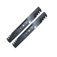 "42"" HEAVY DUTY TOOTHED MULCHING BLADE SET FOR JOHN DEERE MOWERS GX20249"