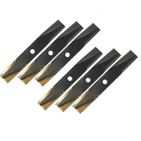 6 X RIDE ON MOWER BLADE SET FOR SELECTED 42 INCH TORO MOWERS  106636  106077  117192