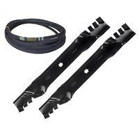 "MULCHING BLADES & BELT KIT FITS 42"" CUT YTH1542XP , YTH1842XP , LTH1842 HUSQVARNA MOWERS"