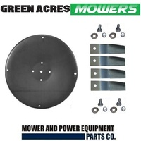 BLADE DISC AND BLADES FITS 32 INCH COX RIDE ON MOWER AM76H7 , SKIT55