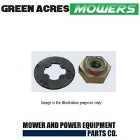 BLADE DISC CARRIER WASHER & NUT FOR VICTA MOWERS