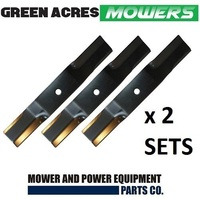 2 X RIDE ON MOWER BLADE SET FITS 44 INCH TORO MOWER 6 X BLADES 54-0010