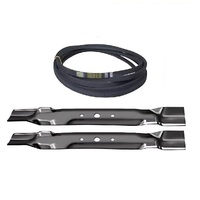 "BLADE & BELT KIT FITS SELECTED 42"" JOHN DEERE MOWERS GY21086 GX20249 GX20072"