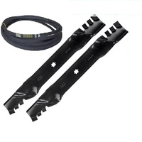 "42"" GATOR STYLE BLADE & BELT KIT FITS SELECTED 42"" JOHN DEERE RIDE ON MOWERS GX22151 , GX20072"