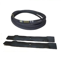 "BLADE & BELT KIT FITS SELECTED 42"" JOHN DEERE RIDE ON MOWERS GX22151 , GX20072"