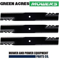 "TOOTHED MULCHING BLADE SET FOR SELECTED 72"" JOHN DEERE RIDE ON MOWER   TCU15882"