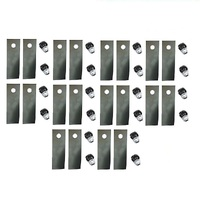 "20 X LAWN MOWER 18"" BLADES AND BOLTS FOR MASPORT MOWER 430 , 435 , 635 , 640  529578"
