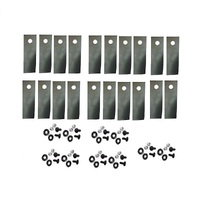 10 PARIS A01118K BLADES FOR ROVER MOWERS 20 BLADES - 20 BOLT KITS A00672K
