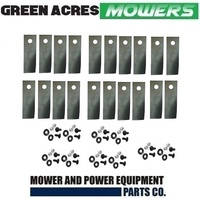 10 PAIRS 18 INCH ROVER LAWN MOWER BLADES & BOLTS 20 BLADES, 20 BOLTS A01118/627K