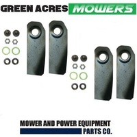 "4 X 18"" BLADES & BOLT KITS FOR VICTA LAWNMOWER HARDENED BLADES CA09506S"