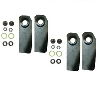 "2 PAIRS 4 X 18"" BLADES & BOLT KITS FOR VICTA LAWNMOWER HARDENED BLADES CA09506S"