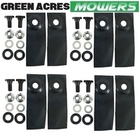 "BLADE AND BOLT KIT FITS 18""  MASPORT & MORRISON MOWERS  4 PAIRS 8 BLADES"