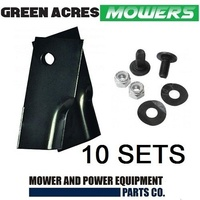 10 PAIRS LAWN MOWER BLADE KITS FOR LATE MODEL ROVER MOWERS 20 x BLADES / BOLTS