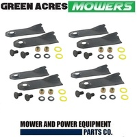 8 X BLADES & BOLTS FOR 19  INCH VICTA MOWERS  CA09470S TORNADO COMANDO MUSTANG