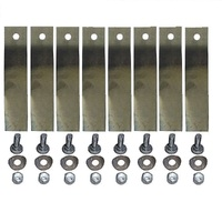 "8 X BLADE & BOLTS FOR 32"" COX & VICTA RIDE ON MOWER ( LOW FLUTE ) SKIT54"