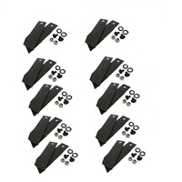 10 PAIRS OF RIDE ON MOWER BLADES AND BOLTS FOR GREENFIELD MOWER GT2139