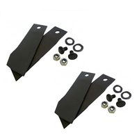 2 PAIRS OF BLADES AND BOLTS FOR GREENFIELD MOWER 4 x Blades GT2139 GT02139