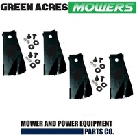 "4 PAIRS 30 & 38"" ROVER RIDE ON MOWER BLADE KIT FITS replaces A07873 , A0673K"