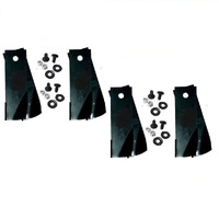 4 PAIR ROVER 30in & 38in RANGER, RANCHER FLUTED RIDE ON MOWER BLADES - A07873