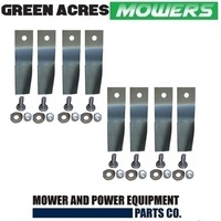"4 PAIRS HUSQVARNA & MTD SWING BACK REPLACEMENT BLADES FIT 36 , 38 AND 42"" KITS"