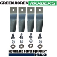 2 X  BLADE KITS FOR 28 INCH COX RIDE ON MOWER   4 X BLADES AND BOLTS  SKIT33