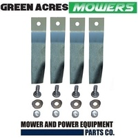 2 X BLADE KITS FOR 32 INCH COX RIDE ON MOWER (4 BLADES AND BOLT SETS) SKIT55