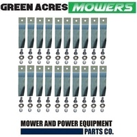 "10 X BLADE KITS FOR 32"" COX RIDE ON MOWER  20 x BLADES AND BOLTS  SKIT55"