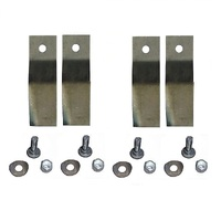 "2 X RIDE ON MOWER BLADES FOR 25"" 28"" 38"" INCH COX  NOVA SCOUT SKIT39"