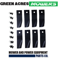 "4 SETS OF BLADES & BOLTS FIT 20"" MTD MOWERS WITH A SWING BACK HOLDER"