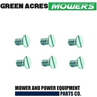 "6 X BOTTOM BLADES SCREWS FITS 17"" ROVER AND SCOTT BONNAR CYLINDER MOWERS"