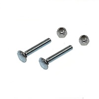 LAWN MOWER LOWER HANDLE BOLT AND NUT FOR VICTA MOWERS X 2