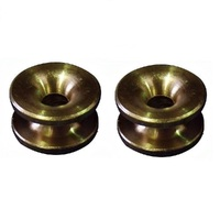 2 x BRASS EYELETS FITS SELECTED LINE TRIMMER  BRUSHCUTTER HEADS 15mm X 7mm X 4.5