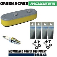 "SERVICE KIT FOR HONDA 19"" LAWNMOWER GXV160 AIR FILTER AND BP5ES BLADES 06720-VA3-KOO"