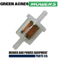 RIDE ON MOWER INLINE FUEL FILTER BRIGGS AND STRATTON , JOHN DEERE , TECUMSEH