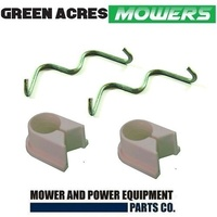 SPLIT FRONT AXLE BUSHES AND CLIPS FOR MASPORT LAWN MOWER