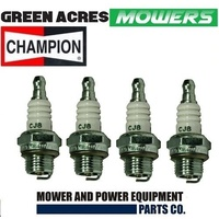 SPARK PLUGS 4 PAC OF CHAMPION CJ8  BRIGGS & STRATTON MOTORS CHAINSAWS TRIMMERS