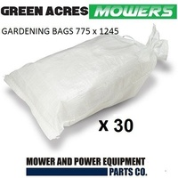 30 X LARGE POLYPROPYLENE POLY-WOVEN GRASS AND LEAF GARDENING BAGS 775 x 1245
